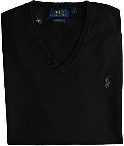 Ralph Lauren Herren V-Neck Pullover - Slim Fit - Navy (S)