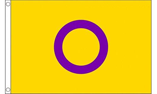 Intersexuation Pride 5 'X3' Drapeau (150 cm x 90 cm)