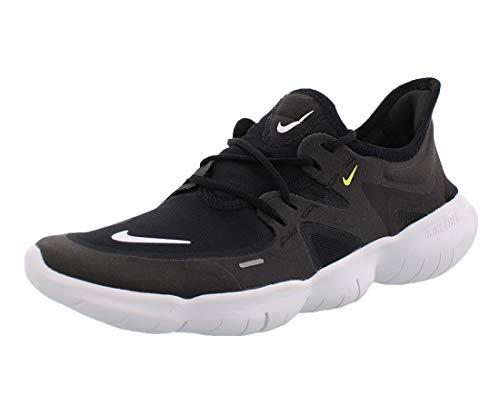 Nike Free RN 5.0 Women's Running Shoe Black/White-Anthracite-Volt 9.0