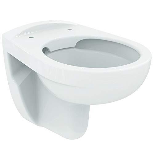 Geberit Duofix Vorwandelement UP 100 + Ideal Standard WC, Spülrandlos mit LotusClean Beschichtung + Absenkautomatik + Delta 21 Drückerplatte + WC Deckel - 3