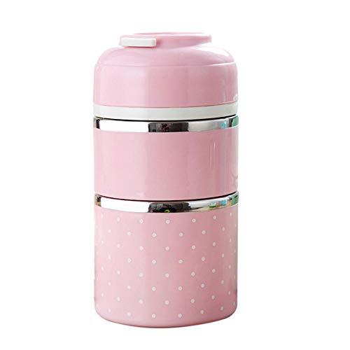 1100 ml de doble capa linda lonchera térmica contenedor de alimentos de acero inoxidable para estudiantes niños vajilla de camping al aire libre | El |