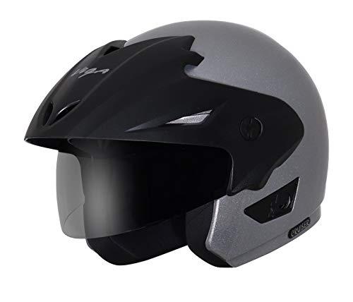 Vega Cruiser Open Face Helmet with Peak (Dull Antracite, M)