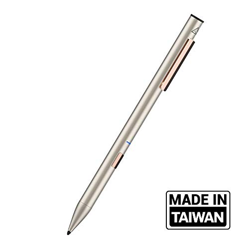 """Adonit Note (Gold) Palm Rejection Stylus & High Accuracy Pen, 12 Hrs Use, Compatible with iOS 12. 2 or Newer iPad Air 3rd gen, iPad Mini 5th, iPad 7th & 6th, iPad Pro 3rd & 4th gen, 11"""" & 12.9 inch"""