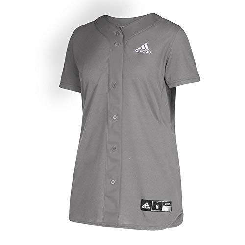 adidas Diamond Queen Elite Full Button Jersey - Women's Softball XXXL Light Onix/Black
