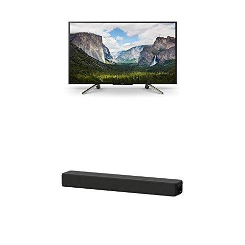 Sony KDL-50WF665 Bravia 127 cm (50 Zoll) Fernseher (Full HD, HDR, Smart TV) Plus HT-SF200 2.1-Kanal kompakte TV Soundbar (Home Entertainment System, HDMI, Bluetooth, USB, Surround Sound) schwarz
