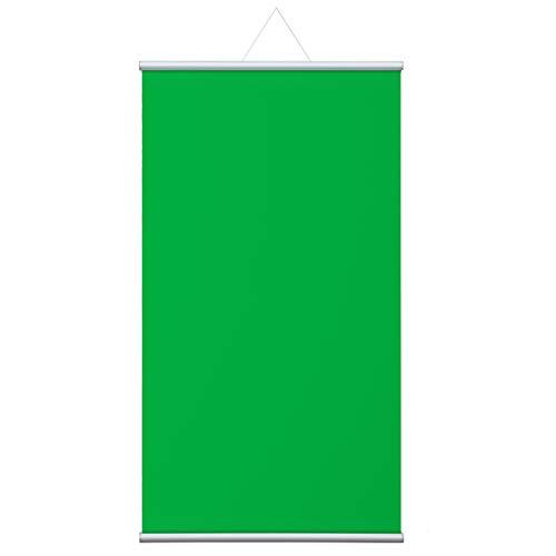 Vispronet® Stoffbanner Grün mit Aufhängung ✓ versch. Größen ✓ Hintergrund, Rückwand (120x200 cm)