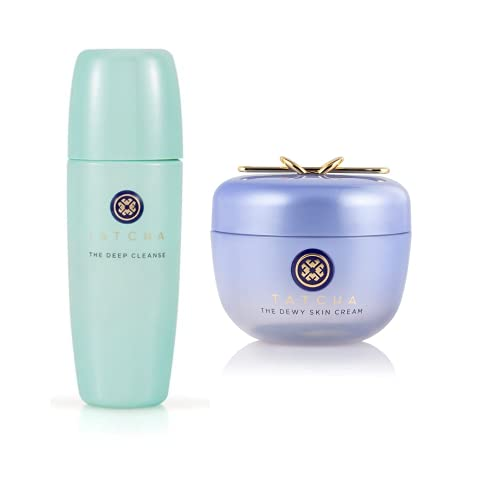 Tatcha Bundle The Deep Cleanse & The Dewy Skin Cream: Deeply and Gently Exfoliate and Hydrate Skin