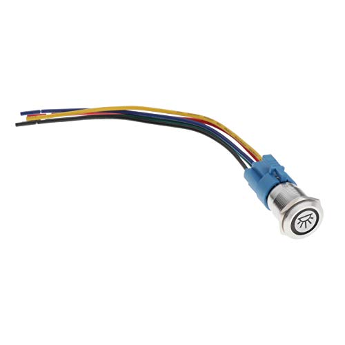 Harilla Interruptor de Botón Pulsador Momentáneo Modificación de 12V para Vehículos de Carreras Luz LED - Interior de la luz de techo