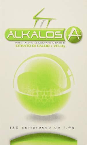 Alkalos A di Biohealth Italia - Integratore Alimentare a Base di Citrato di Calcio, Potassio e Magnesio con Vitamine D - Barattolo da 120 compresse