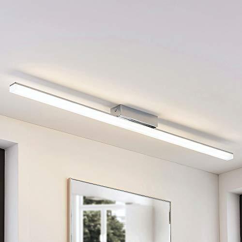 Lindby LED Deckenlampe 'Levke' dimmbar (spritzwassergeschützt) (Modern) in Weiß aus Metall u.a. für Badezimmer (A+, inkl. Leuchtmittel) - Bad Deckenleuchte, Lampe, Badezimmerleuchte