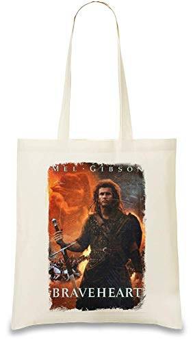 Braveheart Plakat - Braveheart Poster Custom Printed Tote Bag| 100% Soft Cotton| Natural Color & Eco-Friendly| Unique, Re-Usable & Stylish Handbag For Every Day Use| Custom Shoulder Bags By Design