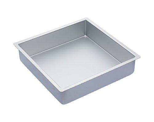 Kitchen Craft Tiefe quadratische Kuchenform, Harteloxal, Silber, 30.5 x 30.5 x 7.5 cm
