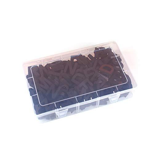 JK Juego de 124 letras magnéticas para nevera, juego de regalo con caja de transporte para adultos, oficina, hogar, pizarra blanca