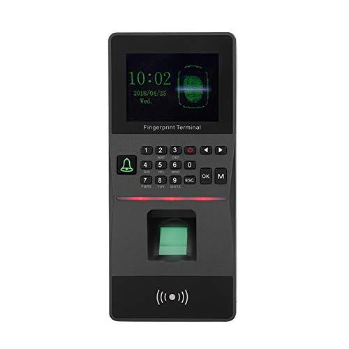 Fingerabdruck-Anwesenheits-Maschine, 2,8 TFT-Farbbildschirm RFID-Fingerabdruck-Zeiterfassungs-Zugriffskontrollmaschine, Ultrahohe Kapazität Angestellter Checking-in Recorder(schwarz)