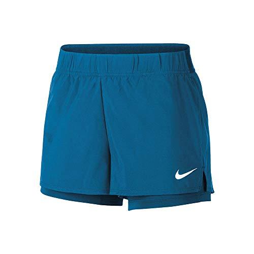 Nike Damen W NKCT Flex Short Sport, Valerian Blue/(White), L