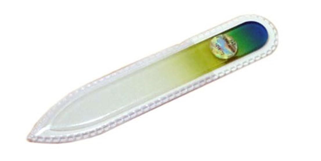 つなぐ本物の法律によりブラジェク ガラス爪やすり 90mm 両面タイプ(グリーングラデーション #04)
