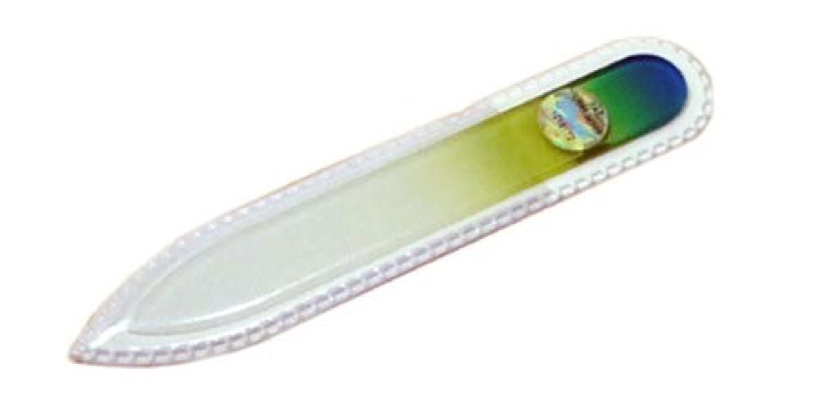 経験後金曜日ブラジェク ガラス爪やすり 90mm 両面タイプ(グリーングラデーション #04)