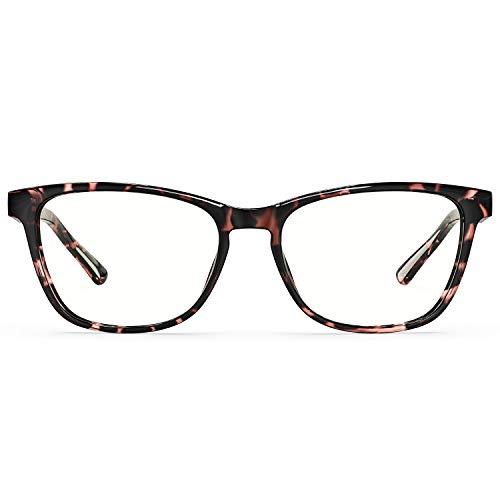 HSPRO Blue Light Blocking Glasses, Fashion Square Eyeglasses Frame Filter Anti Eyestrain & UV Glare Computer/Reading/Gaming/TV/Phones Glasses for Women Men