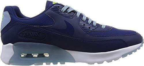 Nike W Air MAX 90 Ultra Essential, Zapatillas de Deporte para Mujer, Azul (Lyl Bl/Lyl Bl-Bl Gry-Brght CRM), 38 EU