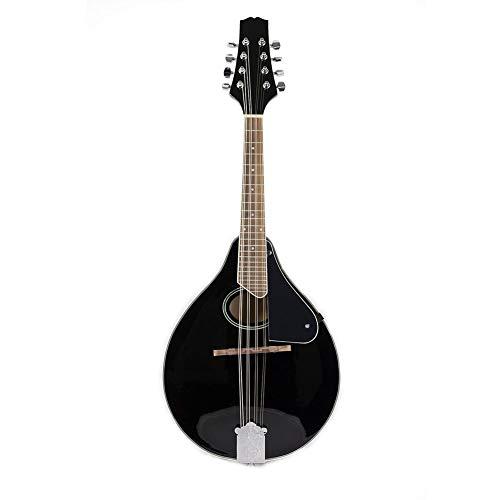 BLKykll 8 snaren zwarte Mandolino gitaar, akoestische elektrische mandolines instrument geschikt voor kinderen, volwassenen, beginners gemaakt van sparren