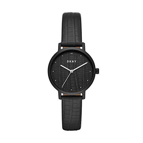 DKNY Reloj de cuarzo para mujer, estilo modernista, de acero inoxidable