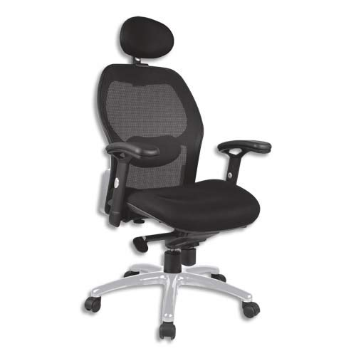 NOWY STYL Tempo - Silla con respaldo de malla (asiento de malla), color negro