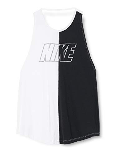 Nike Damen W Nk Miler Sd Tank, weiß (white/Black/atmosphere grey), S