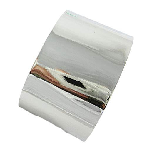 djryj Damen Armreif/Armreif mit breitem Spiegel, metallisch, silberfarben und goldfarben