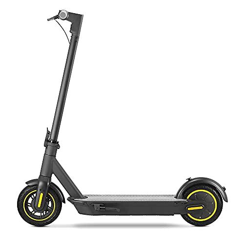 Patinete Electrico MAX - Neumáticos sólidos de 10 Pulgadas, Patinete Eléctrico Adultos Plegable de Largo Alcance de 45 km, Velocidad Máxima de hasta 35 km / h Scooter Eléctrico Motor de 500 W