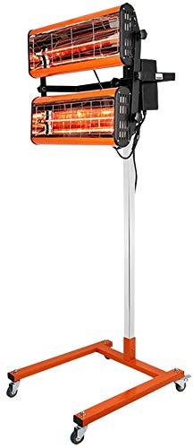 Generic 1000W Infrarot Lacktrockner 2 Lampe Infrarotstrahler Heizstrahler, 220V Tragbar Lacktrockner Infrarotheizung Lampe Auto Lackierung Werkzeug mit Halterung, Infrarot Sprühfarbe Trockner