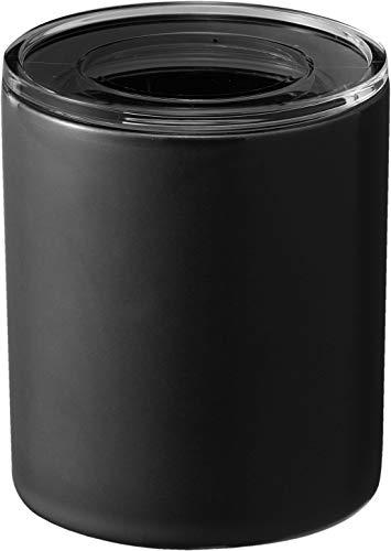 山崎実業(Yamazaki) 中身が見える陶器キャニスター L ブラック 約W10.5XD10.5XH12cm タワー 電子レンジ対応 スタッキング可 保存容器 5117