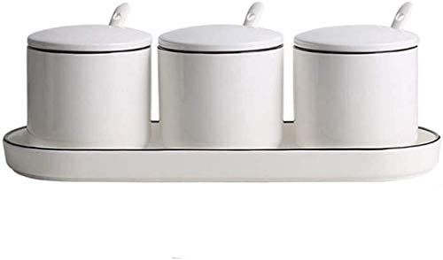 Seasoning Containers New sales Free shipping New with Lids Ceramic Pot Bowls Sugar Condiment