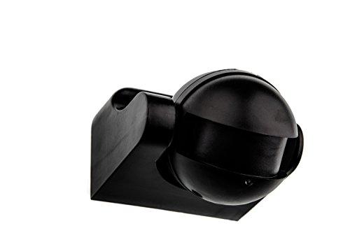 HUBER MOTION 60HF Radar Bewegungsmelder 180° Innen/Außen Bewegungssensor IP44 I 230V Bewegungsmelder LED geeignet, vertikal verstellbar, schwarz