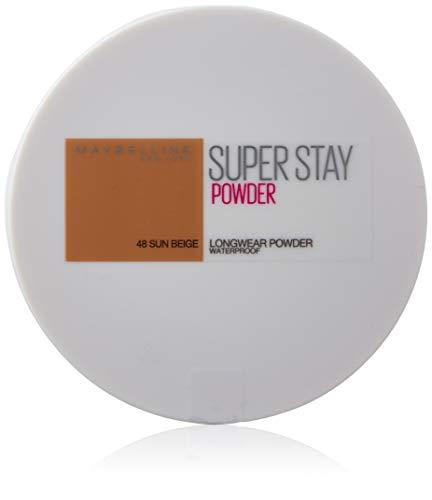 Maybelline New York - Superstay 24H, Polvos Compactos de Larga Duración, Tono 48 Sun Beige