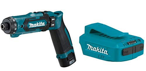 Makita DF012DSE power screwdriver + Makita DEAADP05 - Adaptador USB