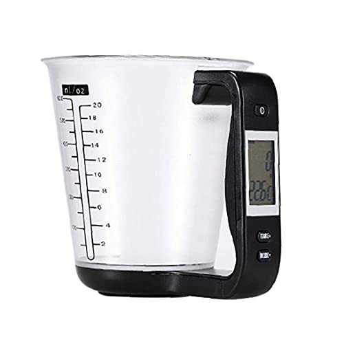 Taza de medición electrónica escala de cocina digital jarra de hogar negro para la leche té tienda hogar Herramientas de hornear herramienta práctica YXF99