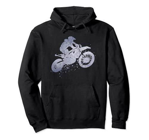 Dirt Bike Rider Moto Equitazione Racing Uomini Teen Ragazzi Uomini Felpa con Cappuccio
