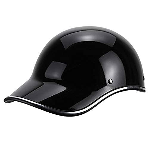 ZHEN Adultos Gorra Béisbol Estilo Retro Casco Moto para Hombre Mujer Motocicleta...