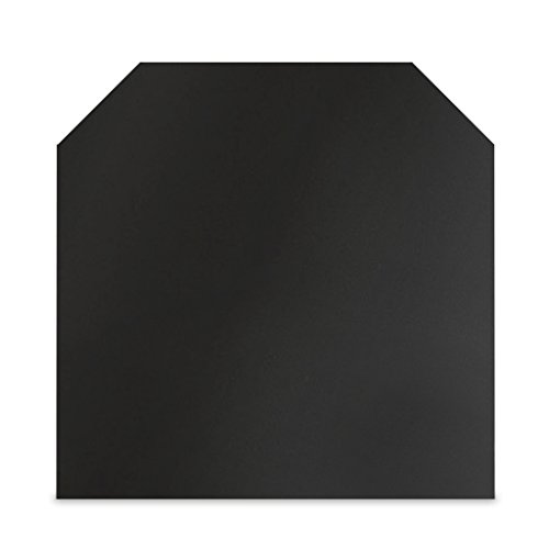 Stahl Bodenplatte Sechseck 1,2 m x 1 m - Schwarz/Gussgrau