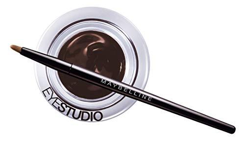 Maybelline New York Gel Eyeliner Eyestudio Lasting Drama Braun/Geltextur Eyeliner Brown (24h langanhaltend ohne Austrocknen inkl. Pinsel) 1 x 3 ml