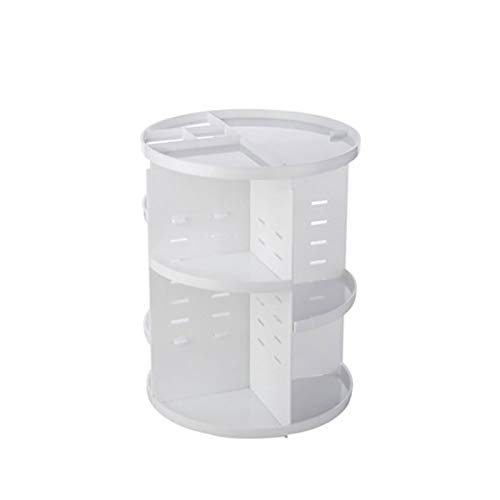 TopHomer - Organizador giratorio de maquillaje giratorio de 360 grados, para joyas, cosméticos, perfumes, expositores, gran capacidad de almacenamiento de maquillaje para aparador, dormitorio, baño