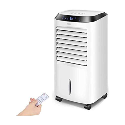 Verdunstungskühler mit Fernbedienung für Heim und Büro, 8-Stunden-Timer, 3-Gang-Oszillationslüfter und 10-Liter-Wassertank, B.