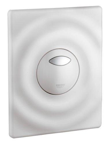 GROHE Wave | WC - Betätigungsplatte | für 2-Mengen- und Start & Stopp-Betätigung, für pneumatisches Ablaufventil) weiß | 38963SH0