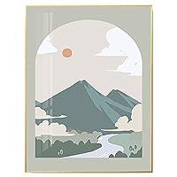 装飾的な絵の自然な風景海アルパインの森の絵画リビングルームの寝室の絵画 style 4-16*20in