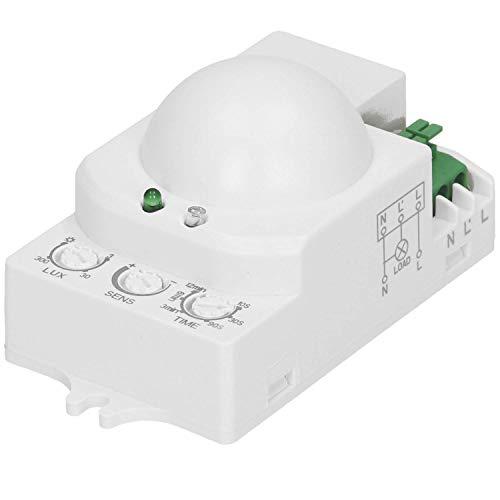 Orno CR-208 Mini Mikrowelle Bewegungsmelder Innen 360 Grad mit Dämmerungssensor LED Kompatibel