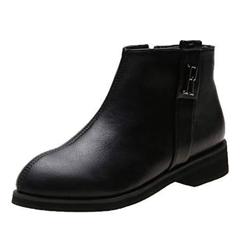 Yesmile Chelsea Boots Damen Stiefeletten Klassisch Komfortable rutschfest Winterstiefel Schneestiefel Winterschuhe Boots Lip On Stiefeletten Stiefel
