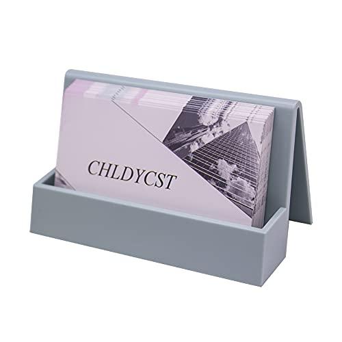 Moderno lindo plástico tarjetas de visita titulares de tarjetas de escritorio pantalla tarjeta de visita organizador para oficina hogar (azul lago)
