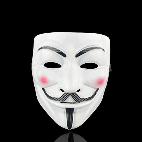 SHOUSBOXHI Halloween Horror Maskers Maskerade Party Masker V voor Vendetta gemaskerde bal Cosplay masque Volwassen Kostuum Accessoire Zuiveren eng Masker