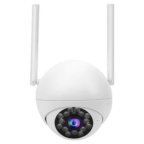 Mxzzand Smart Home WiFi Cámara Interior Cámara CCTV Cámara 1080P HD con visión Nocturna a Todo Color Audio bidireccional para el hogar(Enchufe de la UE)