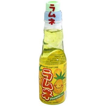 Ramune Japanische Limonade / Erfrischungsgetränk: Ananas Geschmack 200 ml